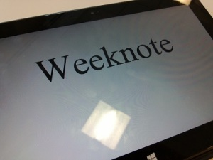 weeknote May