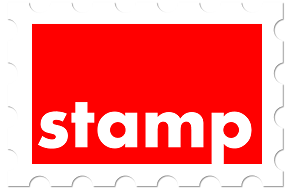 stamp red small
