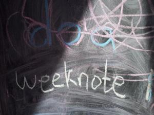 Weeknotes blackboard