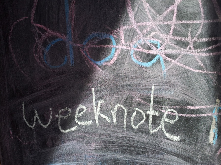 Weeknotes blackboard